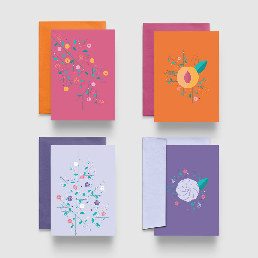 Greeting Cards Set of 8 - Fruits of Armenia
