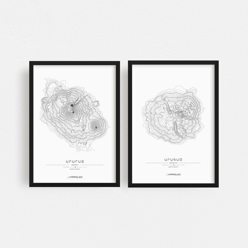 Mount Aragats & Mount Ararat Set of 2
