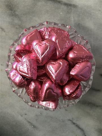 Pink Foil Hearts