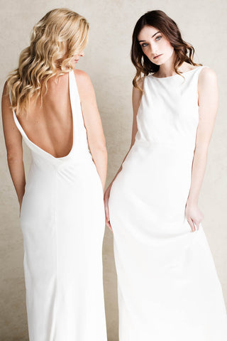 Nola Gown Back & Tilly Gown Front