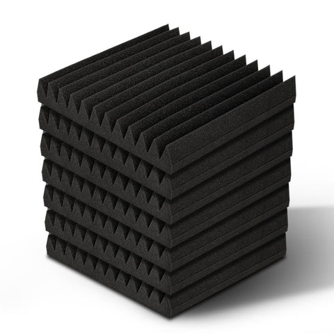 40pcs Studio Acoustic Foam Sound Absorption Proofing Panels 30x30cm Black Wedge