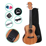 ALPHA 23 Inch Concert Ukulele Electric Mahogany Ukeleles Uke Hawaii Guitar with EQ