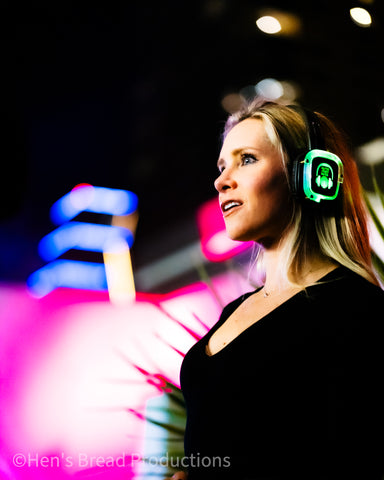In Awe with Silent Disco Headphones at The W