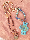 Bohemian Clay Cross Beaded Necklace