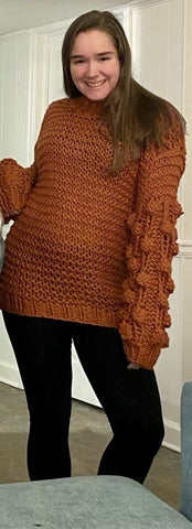 Winter Warm Chunky Crocheted Sweater