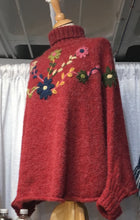 Load image into Gallery viewer, Peruvian Poncho with Flowers 🌺
