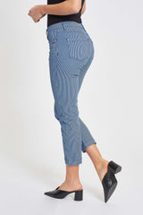 Charlotte Regular Crop - Blue Striped