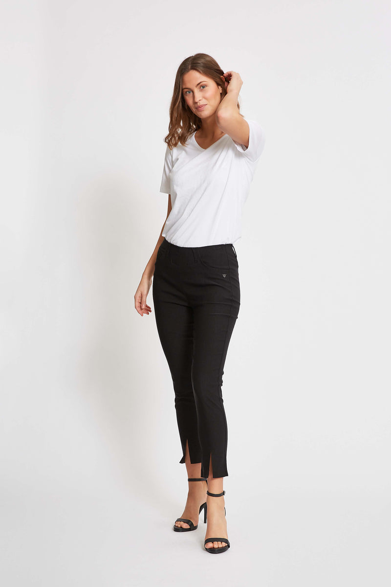 Grace FS Slim Crop - Black