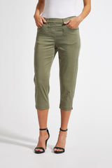 Hannah Regular Crop - Khaki