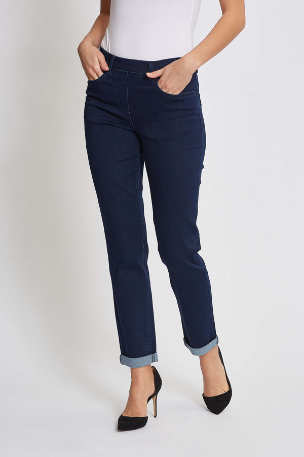 Hannah Turnup Regular SL - Denim Washed