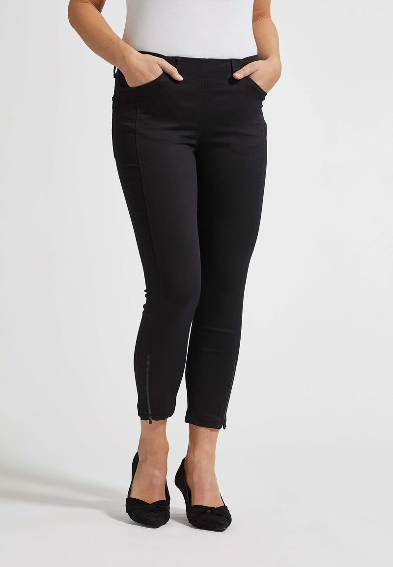 Madison Slim Crop - Black