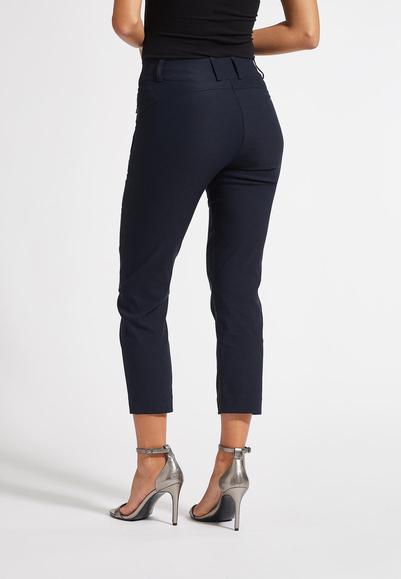 Thelma Classic Crop - Navy