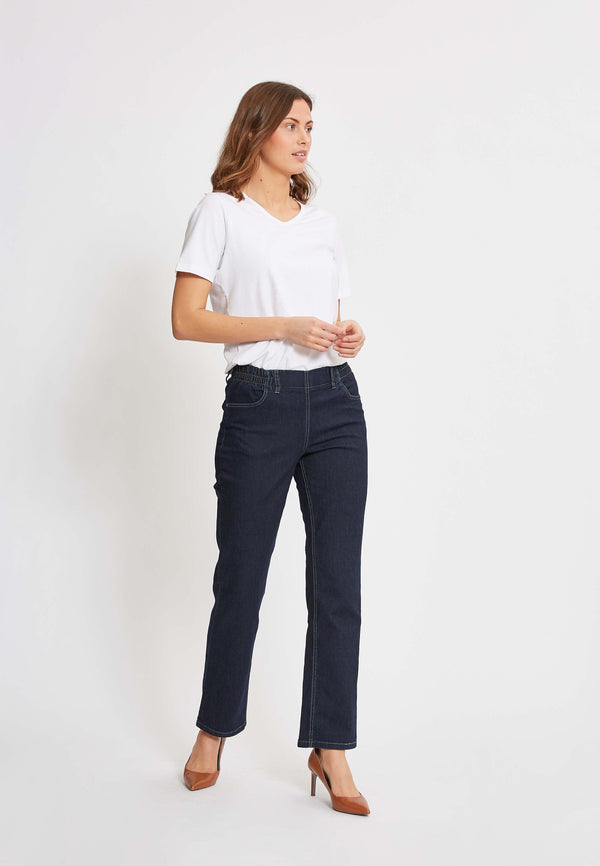 Violet Relaxed ML - Dark Blue Denim