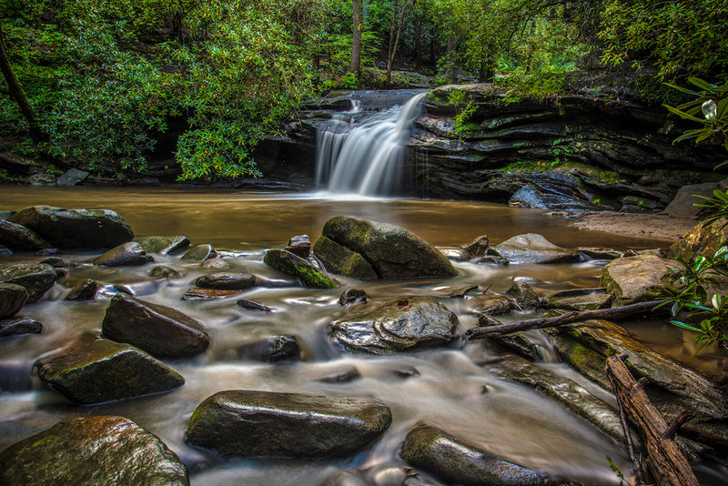 Carrick Creek Falls in Table Rock State Park South Carolina