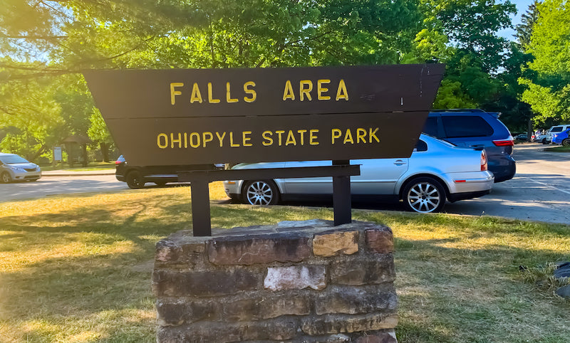 Entrance Sign Ohiopyle State Park Pennsylvania