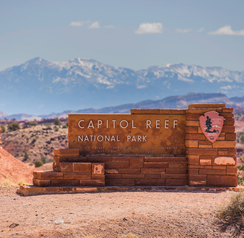 Entrance Sign to Capitol Reef National Park Utah