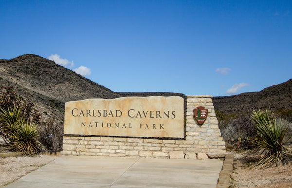 Entrance Sign to Carlsbad Caverns National Park New Mexico
