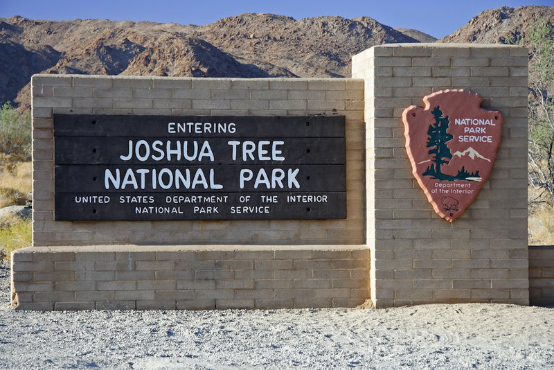 Entrance Sign to Joshua Tree National Park California