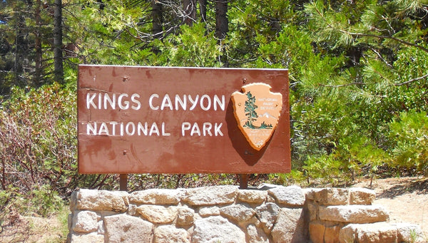 Entrance Sign to Kings Canyon National Park California