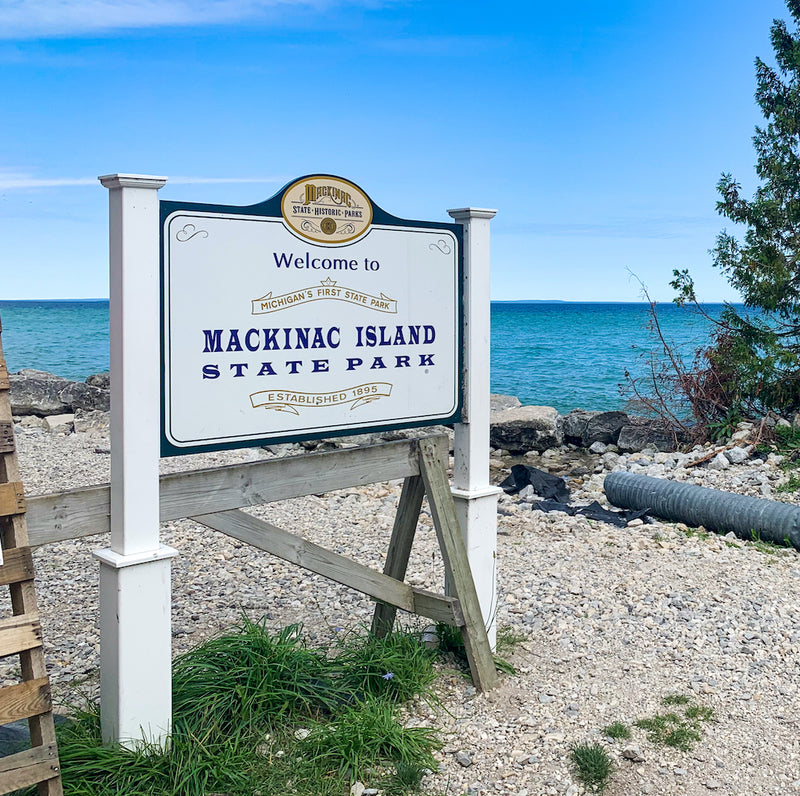Mackinac Island State Park Welcome Sign Michigan