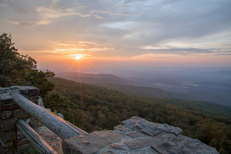 Sunrise at Mount Magazine State Park Arkansas