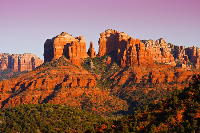 View of Cathedral Rock in Red Rock State Park Arizona