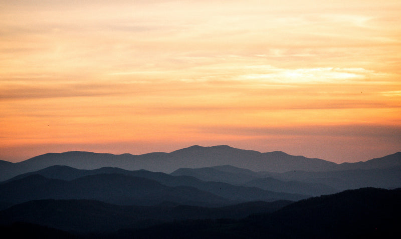 View of Sunset Overlooking Jefferson National Forest in Grayson Highlands State Park Virginia