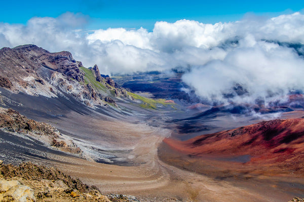 View of Volcanic Crater at Haleakala National Park Maui