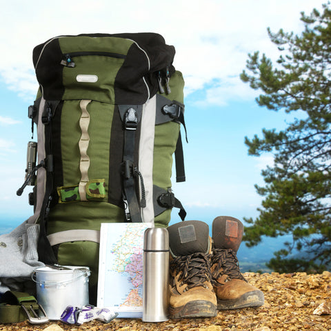 Back pack needs and wants can all fit at Clackamette RV Park