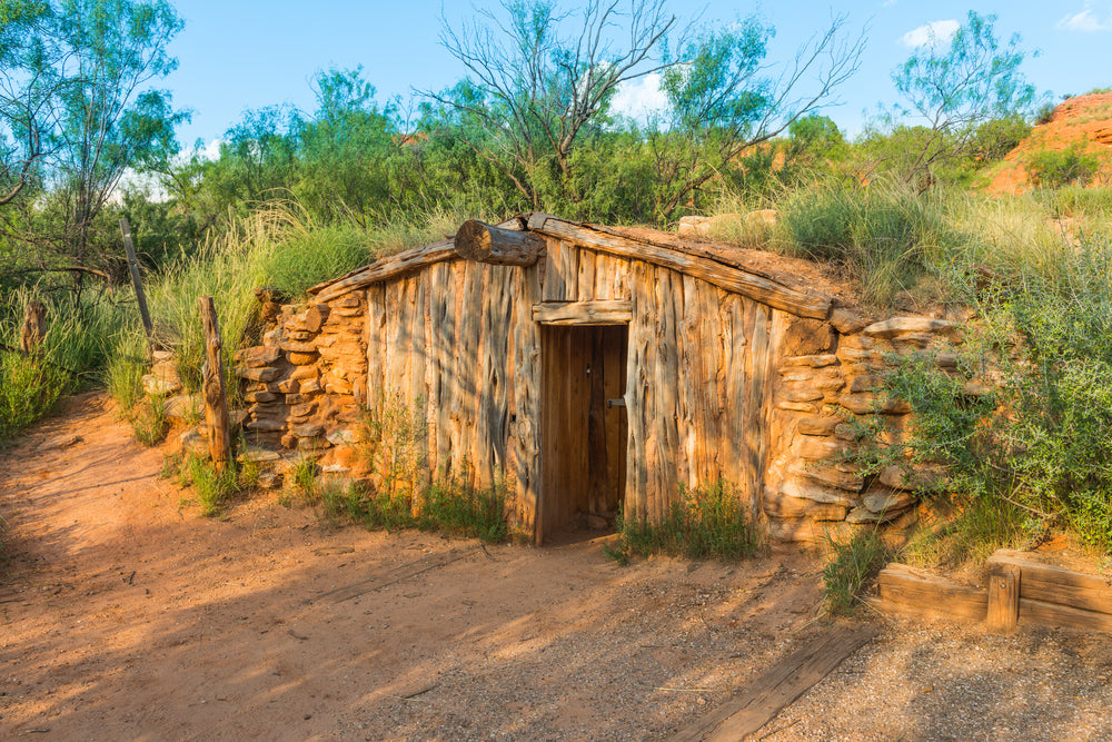 CharlesGoodnight's Dug Out Cabin Palo Duro Canyon