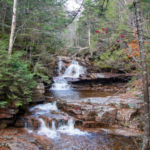 waterfall at Crawford Notch State Park