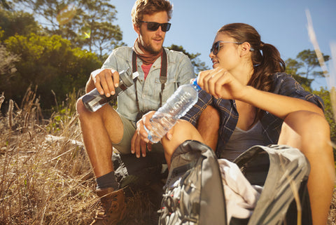 Drinking Water on a Hike