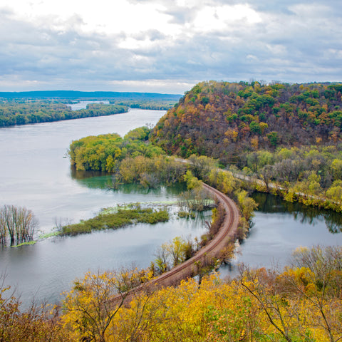 railway trail over water in Effigy Mounds National Monument