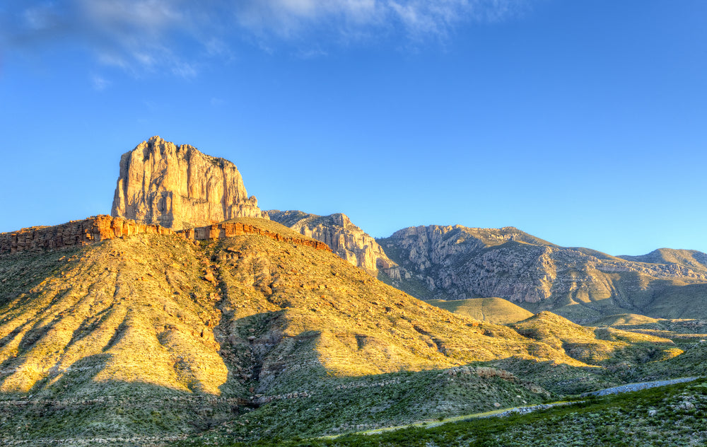 El Capitan on a Sunny Day in Guadalupe Mountains National Park Texas