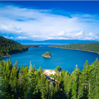 aerial view of Emerald Bay