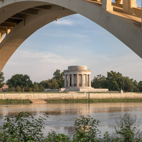 historic white building at George Rogers Clark National Historical Park