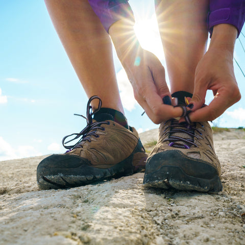 hiking shoes are a must when hiking near Crater Lake RV Park