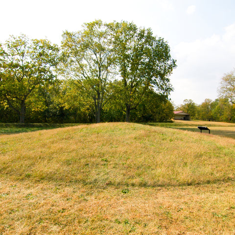 grass mounds in the Hopewell Culture National Historical Park