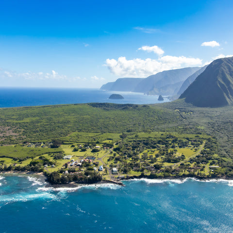 on top of the mountains at Kalaupapa National Historical Park
