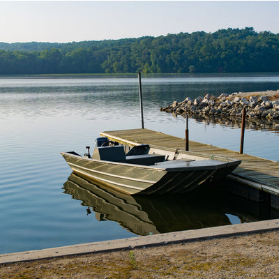 on the dock at Lake Wapello State Park