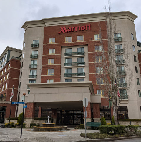 staying at the local Marriott near Clackamette RV Park