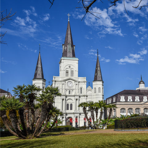 Beautiful historic building at New Orleans Jazz National Historical Park