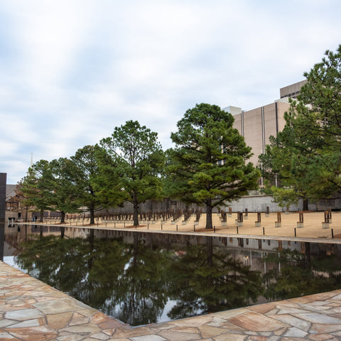 peaceful quite day at Oklahoma City National Memorial & Museum
