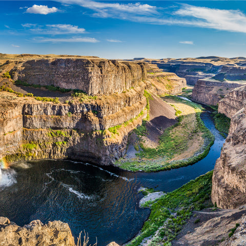 helicopter view of Palouse Falls State Park