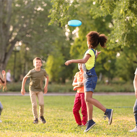 Playing Frisbee with your friends at Clackamette RV Park