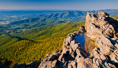 Shenandoah National Park Helicopter View