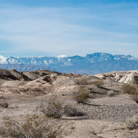 White gypsum hills  at Tule Springs Fossil Beds National Monument