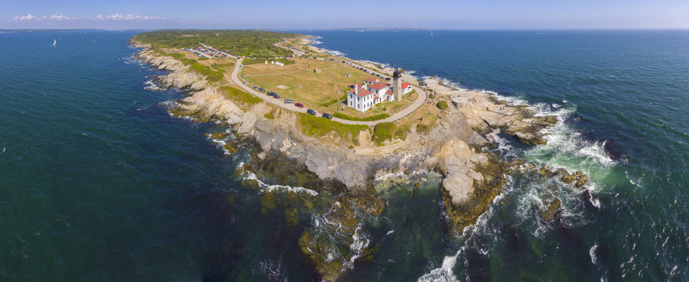Aerial View of Beavertail State Park Rhode Island