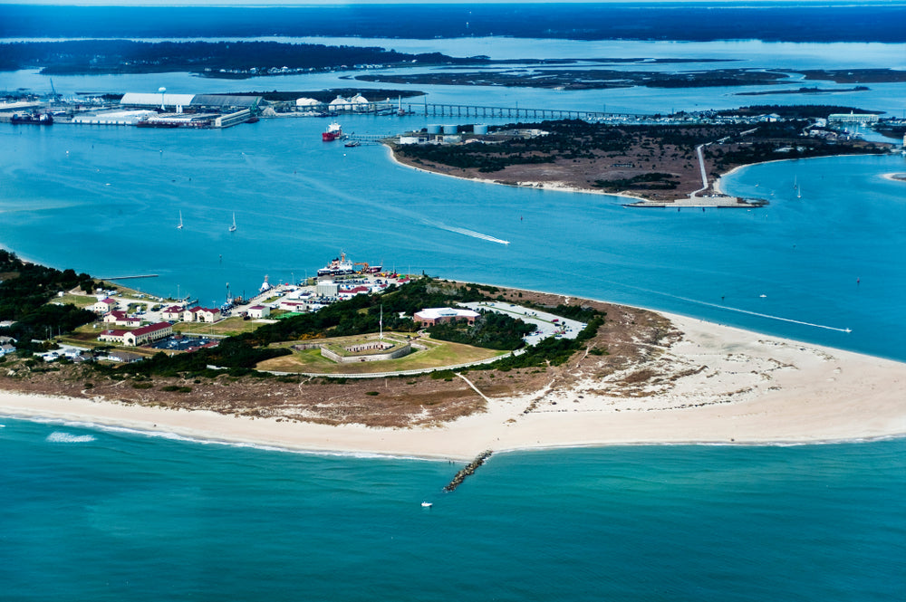 Aerial View of Fort Macon State Park North Carolina