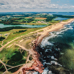 Aerial view of Prince Edward Island National Park, Canada